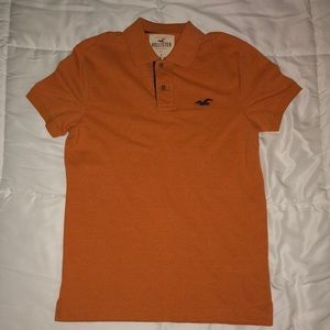 Orange Hollister Short-Sleeve Polo